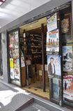 Paris,July 17:Liquor Store in Montmartre in Paris royalty free stock image