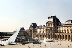 Paris - July 1: The Louvre museum with its landmar Royalty Free Stock Images