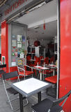 Paris,July 17:Restaurant from Montmartre in Paris stock photography