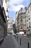 Paris,July 17:Street view from Montmartre in Paris Stock Photography