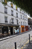 Paris,July 17:Street view from Montmartre in Paris Stock Images