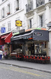 Paris,July 17:Terrace from Montmartre in Paris Stock Photos