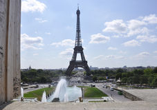 Paris,July 15th:Eiffel Tower landscape from Paris in France royalty free stock photo
