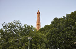 Paris,July 14th:Eiffel Tower lighted from Paris in France royalty free stock photos
