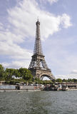 Paris,July 18th:Eiffel Tower and Seine from Paris in France stock photo