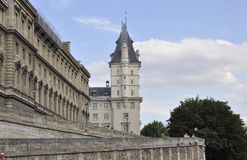 Paris,July 18th:Historic Buildings from Bank of Seine from Paris in France Royalty Free Stock Photo