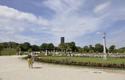 Paris,July 18th:Jardin du Luxembourg from Paris in France Stock Images