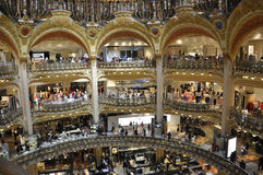Paris,July 15th:Lafayette Galeries interior from Paris in France Stock Images