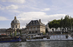 Paris,July 18th:Landscape with Bank of Seine river from Paris in France Royalty Free Stock Photo