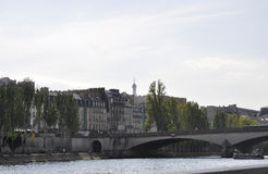Paris,July 18th:Landscape with Bank of Seine river from Paris in France Stock Photos