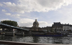 Paris,July 18th:Landscape with Bank of Seine river from Paris in France Stock Photography