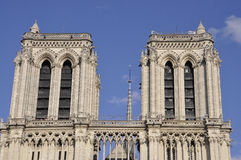 Paris,July 17th:Notre Dame Cathedral towers from Paris in France Stock Photography