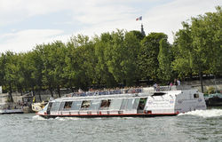 Paris,July 18th:Seine Cruise Boat from Paris in France. Seine Cruise Boat from Paris in France on July 18th 2015 Royalty Free Stock Images