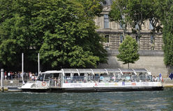 Paris,July 18th:Seine Cruise Boat from Paris in France Royalty Free Stock Images