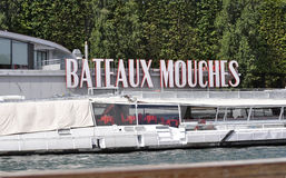 Paris,July 18th:Seine Cruise Boat from Paris in France Royalty Free Stock Image