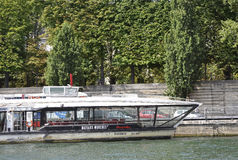 Paris,July 18th:Seine Cruise Boat from Paris in France Stock Image