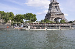 Paris,July 18th:Seine Cruise Ship from Paris in France Stock Images
