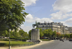 Paris,July 21th:Statue Equestrian of Marechal Ferdinand Foch from Paris in France Stock Photography