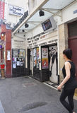 Paris,July 17th:Theatre Huchette place from Paris in France Royalty Free Stock Photography