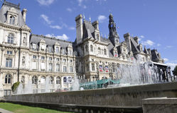 Paris,July 17th:Town Hall Building from Paris in France Royalty Free Stock Photography