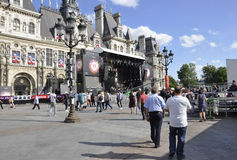 Paris,July 17th:Town Hall plaza from Paris in France Royalty Free Stock Photo