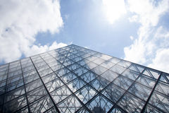 PARIS - JUNE 21: Famous glass Pyramid Royalty Free Stock Image