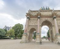 PARIS - JUNE 2014: Carousel Triumph Arc in summer. Paris attract. S 30 million people annually Stock Photography