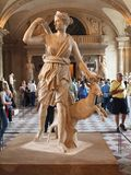 In the halls of Louvre. June 21, 2012. Paris Royalty Free Stock Photo