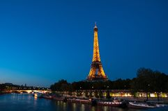 PARIS - JUNE 17: Eiffel Tower on June 17, 2010 in Paris. Panoramic view on Eiffel Tower, Paris, France Stock Photos