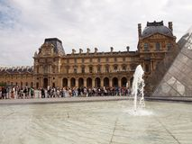 Entrance to Louvre museum. Paris. France. June 21, 2012 Royalty Free Stock Images