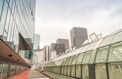 PARIS - JUNE 9, 2014: La Defense modern buildings. La Defense is Stock Images