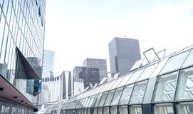 PARIS - JUNE 9, 2014: La Defense modern buildings. La Defense is royalty free stock photo