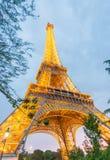 PARIS - JUNE 11, 2014: Lights of Eiffel Tower at night. La Tour Stock Images