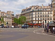 Paris city street day life. France. Europe Royalty Free Stock Photo