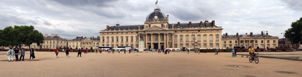 View to Paris ecole militaire. France. Royalty Free Stock Photos