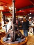 Chokladhus på det Paris stadsMontmartre området. 2012 06 19 Paris. Frankrike. Royaltyfri Fotografi
