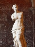 Luftventilen den Venus de Milo statyn är det ett av mest viktig staty av världen Arkivfoton
