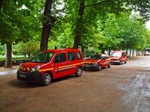 Sapeurs-Pompeurs de Paris. Frankrike. Juni 21, 2012 Arkivfoton