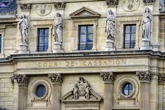 Paris justice palace cour de cassation Royalty Free Stock Photos