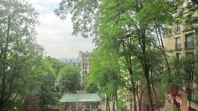 Paris kabelbil arkivfilmer