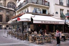 Paris kafé Royaltyfria Foton