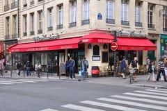 Paris kafé Arkivfoto