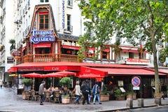 Paris kafé Fotografering för Bildbyråer