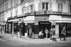 Paris kafé Arkivbilder