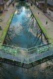 Paris kanal St Martin royaltyfria foton
