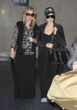 Paris & Kathy Hilton at LAX airport, california Royalty Free Stock Photos