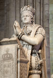 Paris - king Louis XVI - Saint Denis. Paris - prayer of king Louis XVI from Saint Denis gothic cathedral Stock Photos