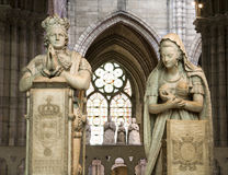 Paris - king and queen from Saint Denis cathedral. Paris - paryer of king Louis XVI and Marie Antoinette from Saint Denis gothic cathedral Royalty Free Stock Images