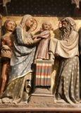 Paris - kleine Jesus-- Notre- Damekathedrale Stockfoto