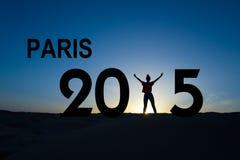 Paris klimatförändringkonferens 2015 Arkivbild